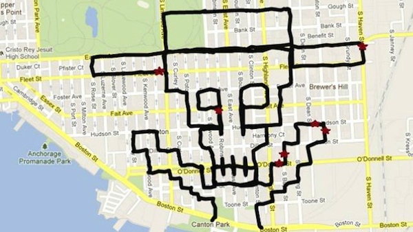 Skeleton GPS Drawing