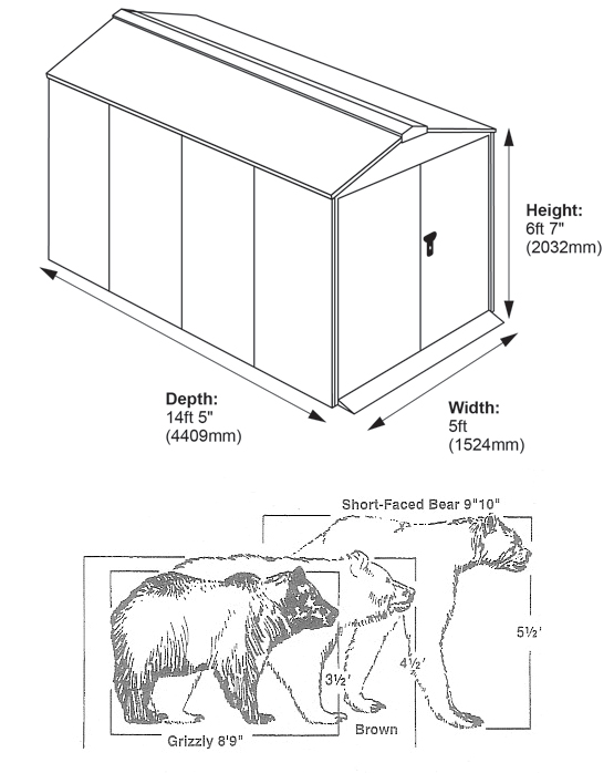 Bear and Centurion Shed Dimensions