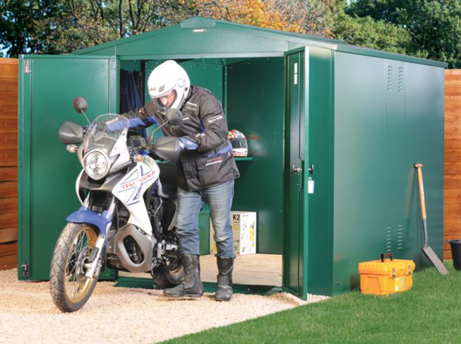 Secure Metal Outdoor Motorbike Garages
