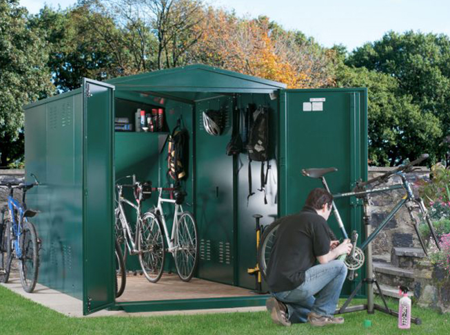 Weatherproof bike shed