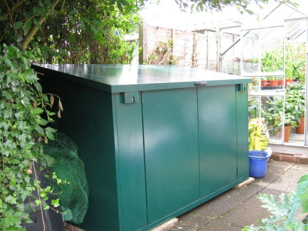 secure garden shed for equipment and tools