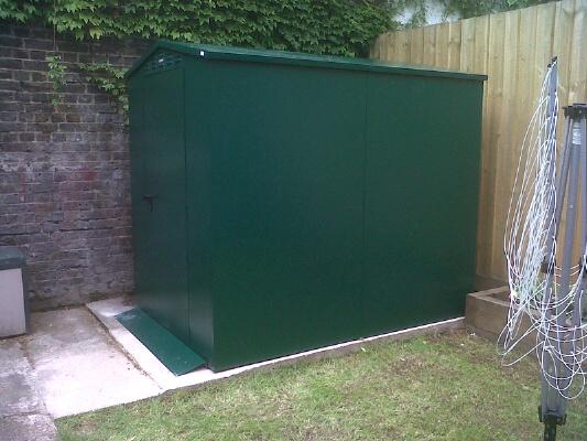 Asgard secure metal garden shed