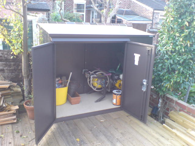 Addition metal garden shed