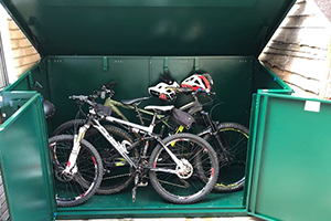 Secure Bike Shed for 29ers Bikes