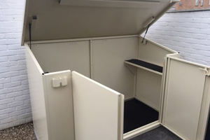 Secure Easy Access Bike Shed