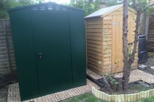 5x4 Flexistore 1511 Metal Garden Shed with Apex Roof