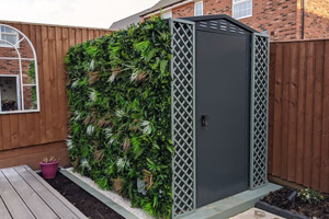 Flexistore grey 5x7 garden shed with customer modifications