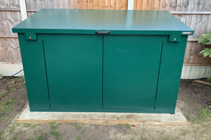 Access Bike Shed With Lift Up Lid
