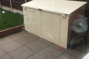 Access Bike Shed in Ivory Finish