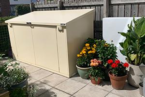 Secure Metal Storage for Garden