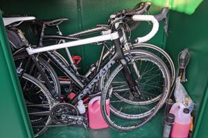 Addition All Metal Bike Shed