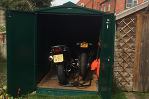 Secure Motorcycle Shed