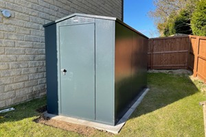 Asgard Garden Shed Reviews: 5x7 Grey metal shed