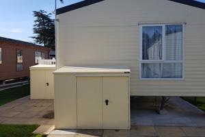 Weatherproof Cream Caravan Storage Box