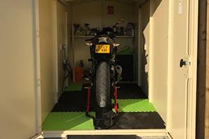Steel Motorbike Shed