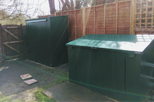 Easy Access Secure Bike Shed