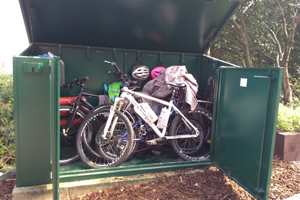 Family Metal Bike Shed