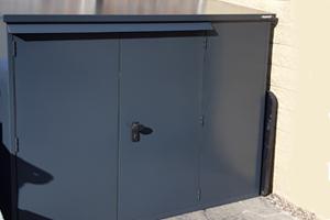 Grey Secure Bike Box Storage