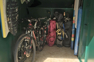 Inside An Asgard Family Bike Shed