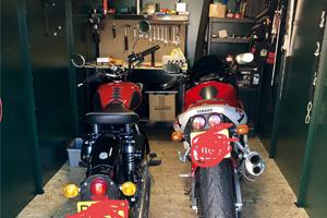 Inside Centurion Plus 2 Motorbike Garage