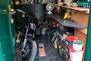 Inside Karl's Motorbike Shed
