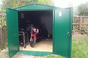 Motorbikes in Asgard Shed