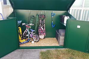 Caravan Park Steel Bike Shed