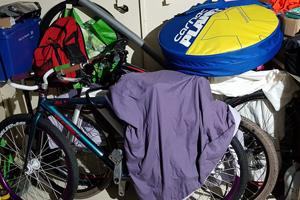 Inside an Asgard Access Bike Shed