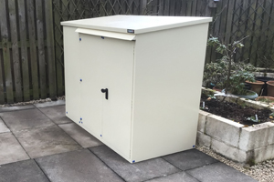 Cream Bike Shed - Police Appproved