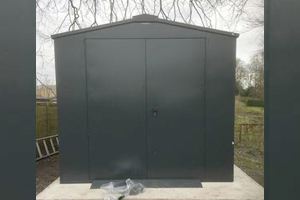 Grey large garden shed - Winter Storage from Asgard