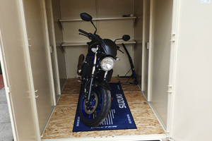 Police Approved motorcycle garage