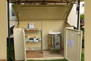 Pottery Kiln Storage Shed with Customer Base