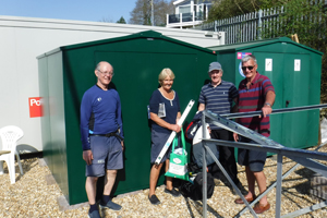 Outdoor Sailing Club Equipment Storage