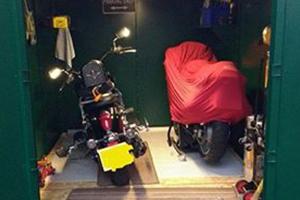 Secure Motorcycle Garage