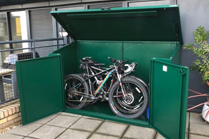 Double Door Access Bike Shed