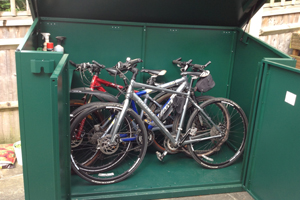 Secure Family Bike Shed with Easy Walk in Access