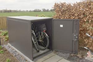 Brown Bike Shelter