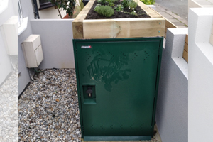 Secure bike storage with green roof