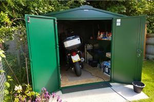 Secure Large Motorcycle Garage