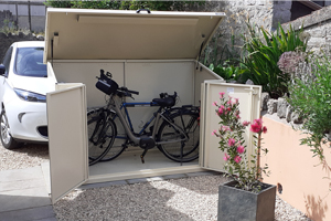 Strong and Secure Galvanised Steel Bike Shed