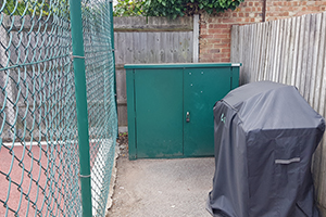 Metal Shed for Tennis Equipment