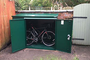 Bike Shed With Hidden Ventilation