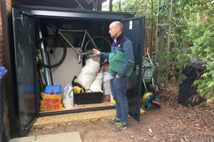Tall Asgard metal shed - garden storage reviews