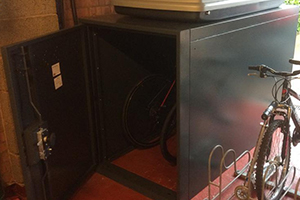 Twin Bike Locker Storage Shed