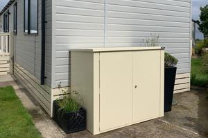 Cream Caravan Storage Box