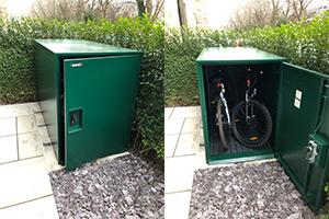 Bike locker outdoor storage