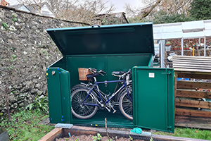 Access secure cycle metal storage
