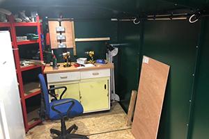 Gladiator Garden Lawnmower Storage