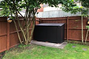 Outdoor garden storage sheds