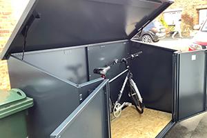 E-bike metal storage solution
